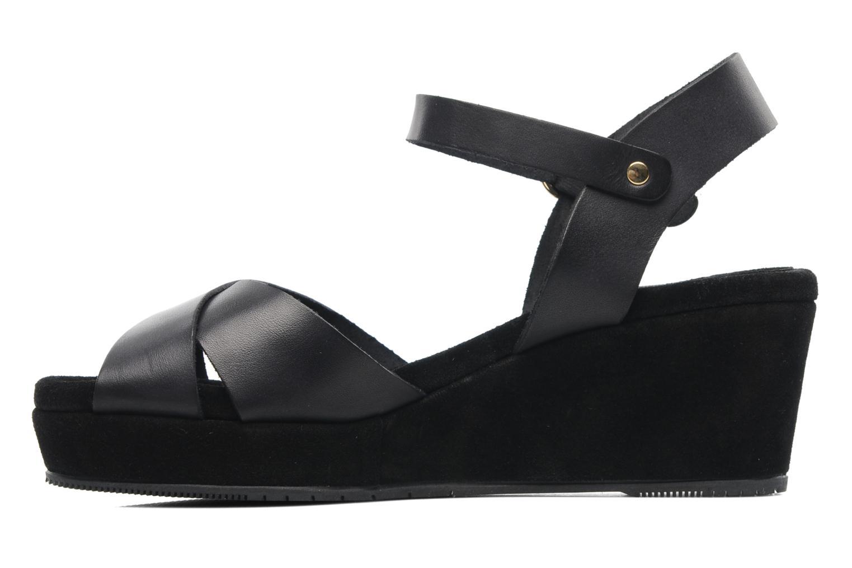 Sandales et nu-pieds Georgia Rose Equidistant CFT Noir vue face