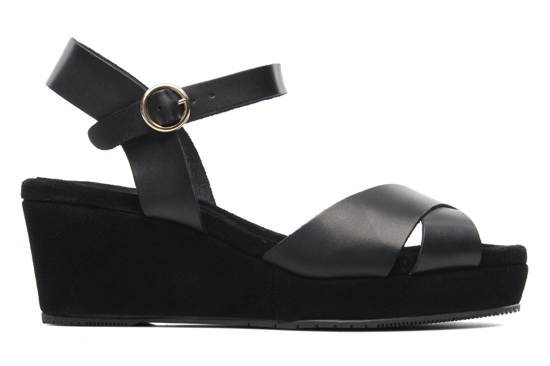 Sandales et nu-pieds Georgia Rose Equidistant CFT Noir vue derrière