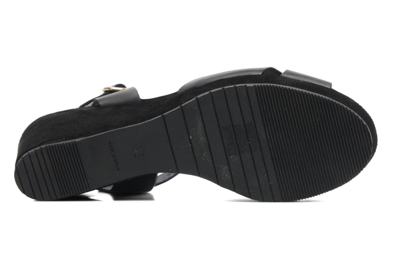 Sandales et nu-pieds Georgia Rose Equidistant CFT Noir vue haut