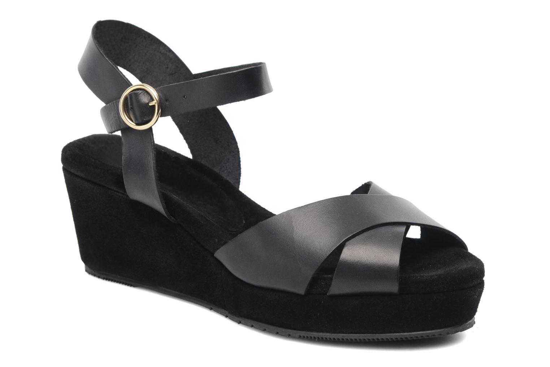 Sandales et nu-pieds Georgia Rose Equidistant CFT Noir vue détail/paire