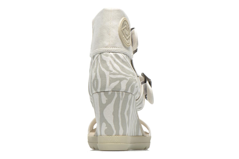 Sandales et nu-pieds P-L-D-M By Palladium Starlet Print Gris vue droite