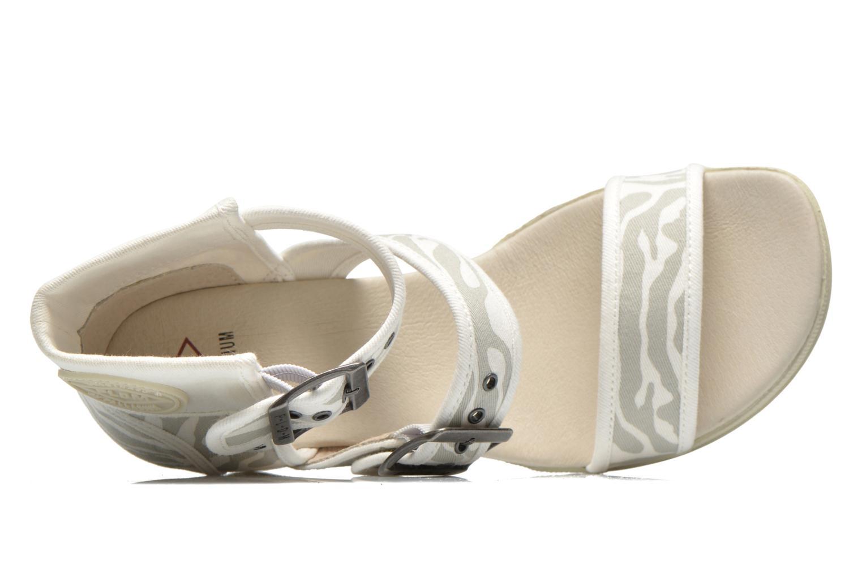 Sandales et nu-pieds P-L-D-M By Palladium Starlet Print Gris vue gauche