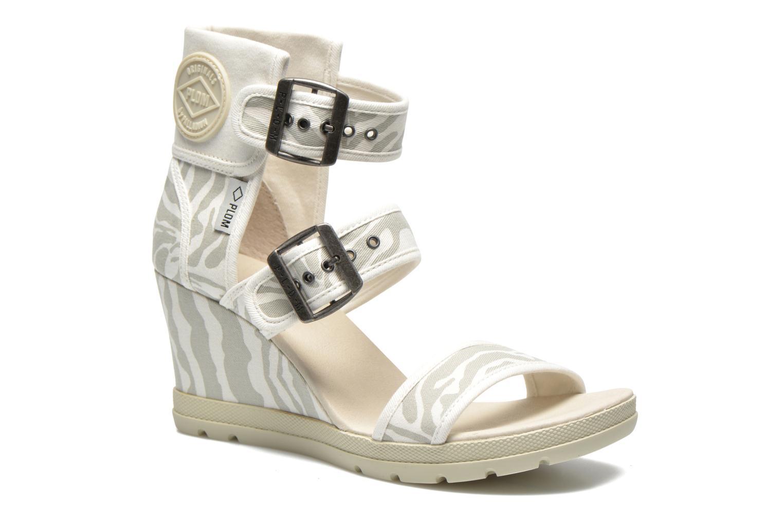 Sandales et nu-pieds P-L-D-M By Palladium Starlet Print Gris vue détail/paire