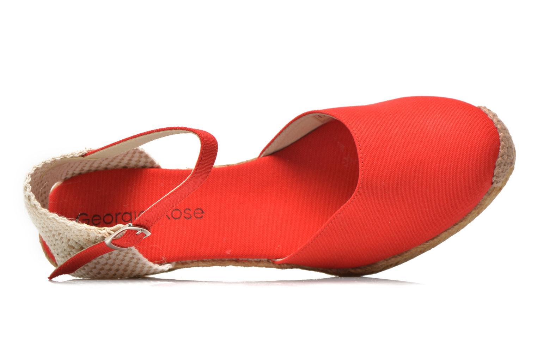 Sandales et nu-pieds Georgia Rose Ipona Rouge vue gauche