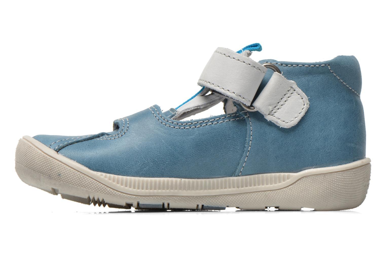 Chaussures à scratch Babybotte STYLI Bleu vue face