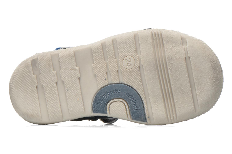 Chaussures à scratch Babybotte STYLI Bleu vue haut