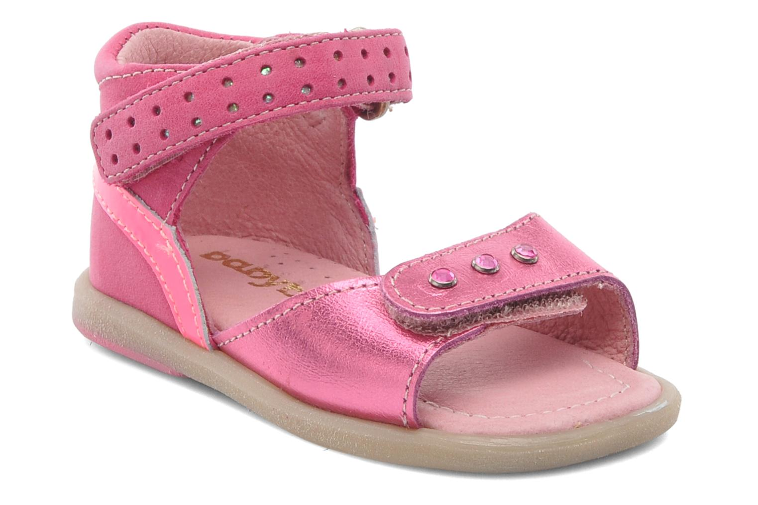 Sandals Babybotte TZARINE Pink detailed view/ Pair view
