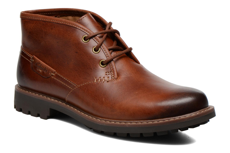 Zapatos con cordones Clarks Montacute Duke Marrón vista de detalle / par