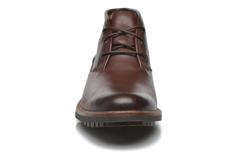Lace-up shoes Clarks Montacute Duke Brown model view