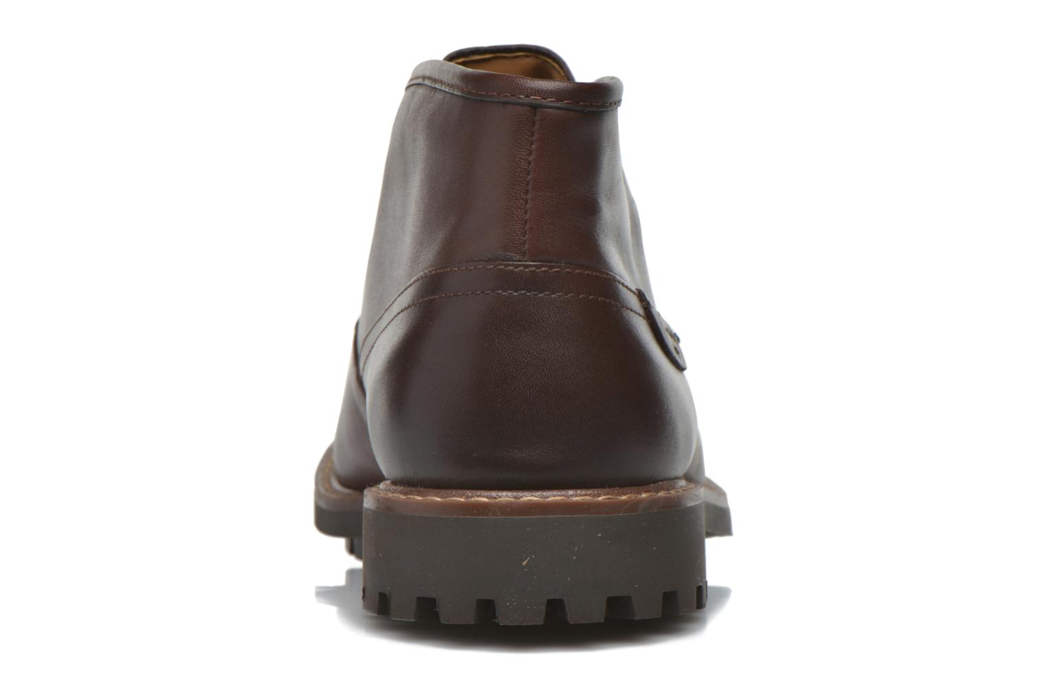 Lace-up shoes Clarks Montacute Duke Brown view from the right
