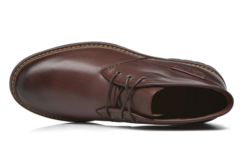 Zapatos con cordones Clarks Montacute Duke Marrón vista lateral izquierda