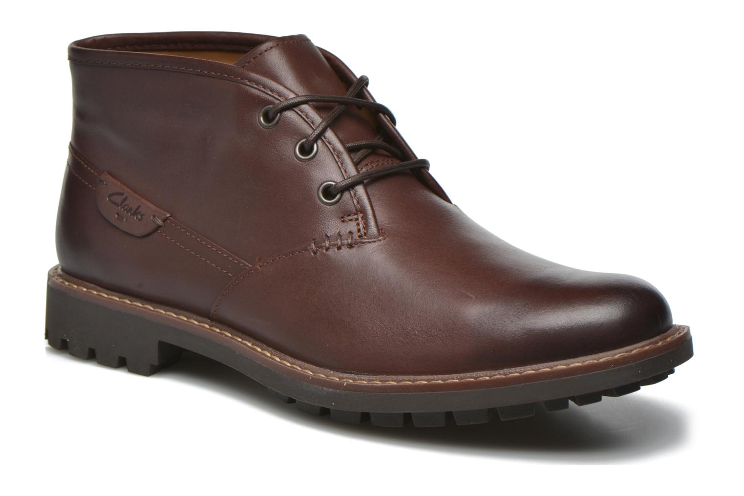 Lace-up shoes Clarks Montacute Duke Brown detailed view/ Pair view