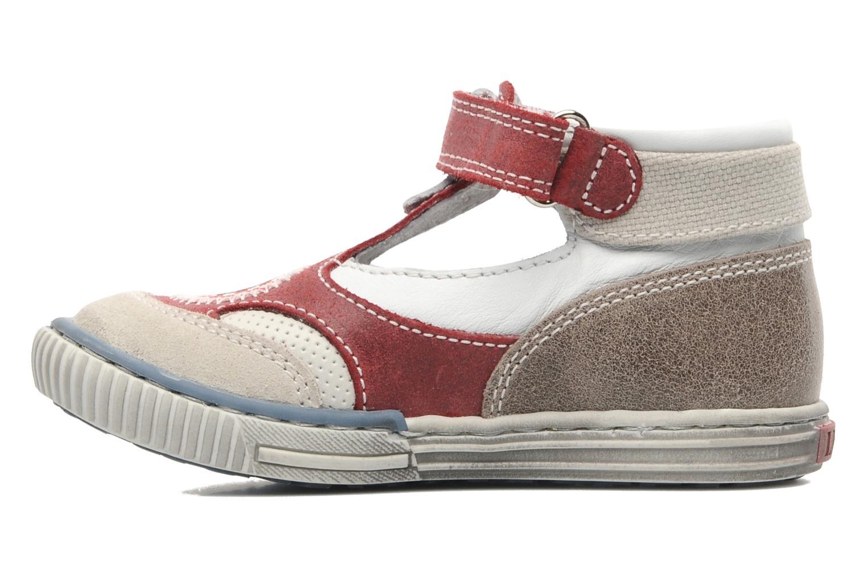 Zapatos con velcro Little Mary PLANEUR Rojo vista de frente