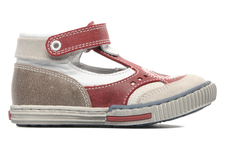 Zapatos con velcro Little Mary PLANEUR Rojo vistra trasera