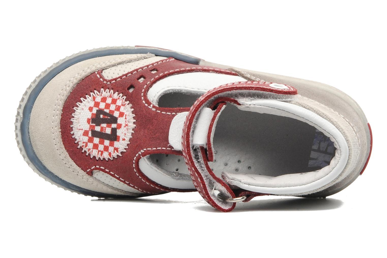 Zapatos con velcro Little Mary PLANEUR Rojo vista lateral izquierda