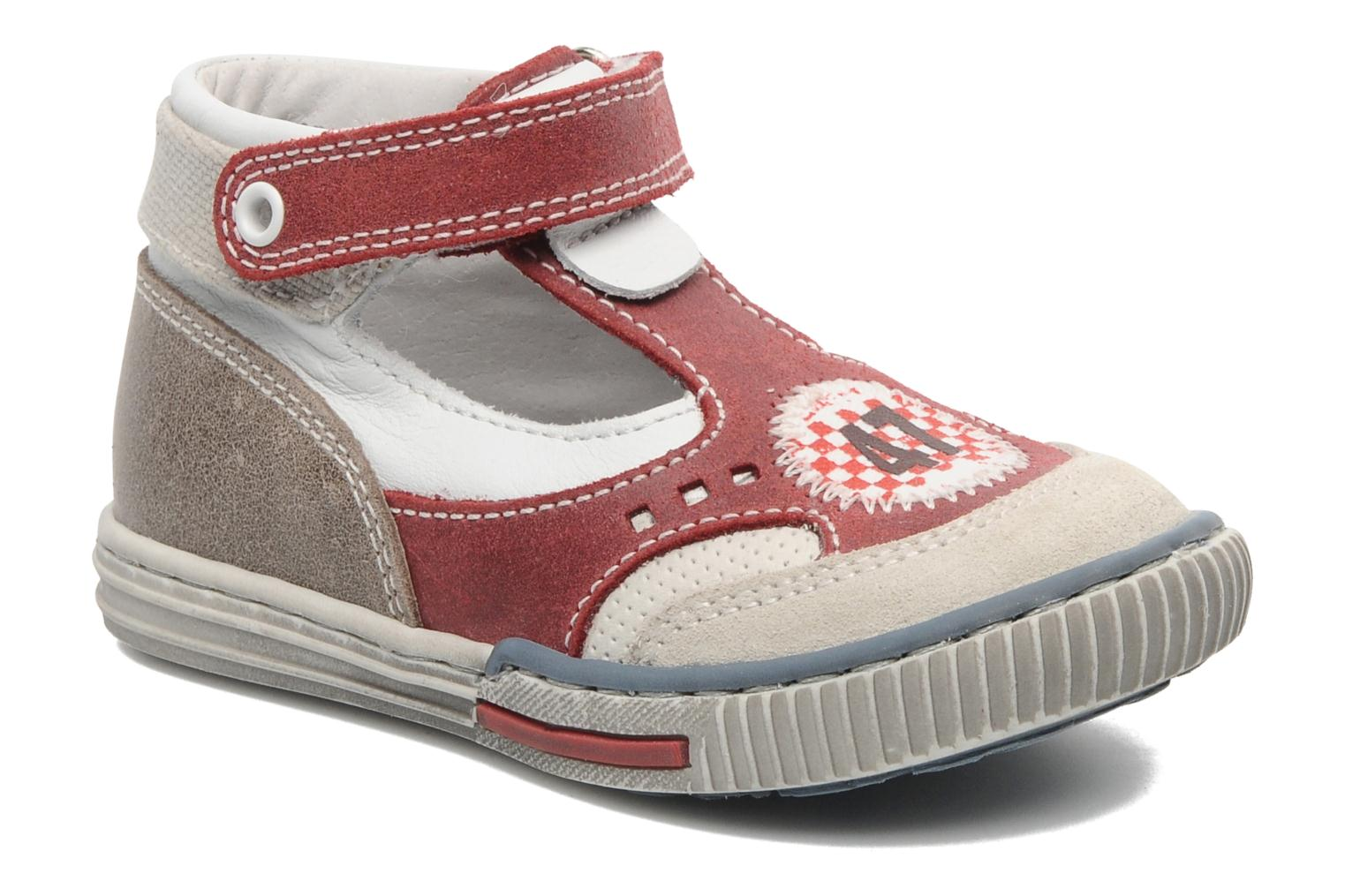 Velcro shoes Little Mary PLANEUR Red detailed view/ Pair view