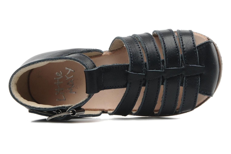 Sandalias Little Mary Jules Azul vista lateral izquierda