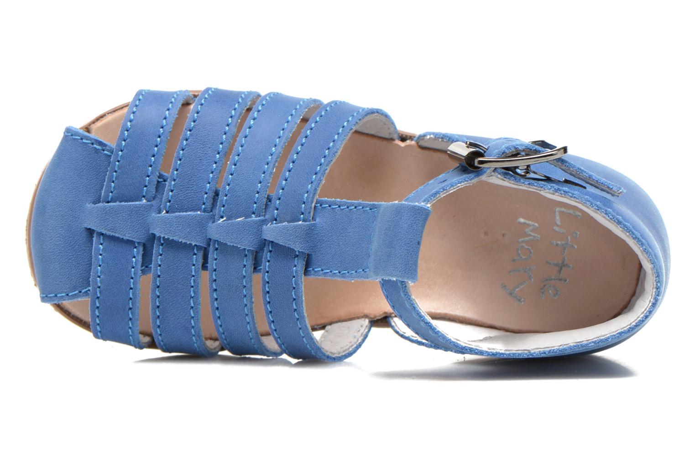 Sandalen Little Mary Jules blau ansicht von links