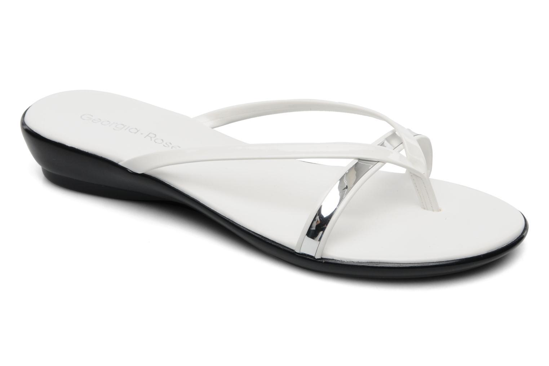Sandales et nu-pieds Georgia Rose Carabine Blanc vue détail/paire