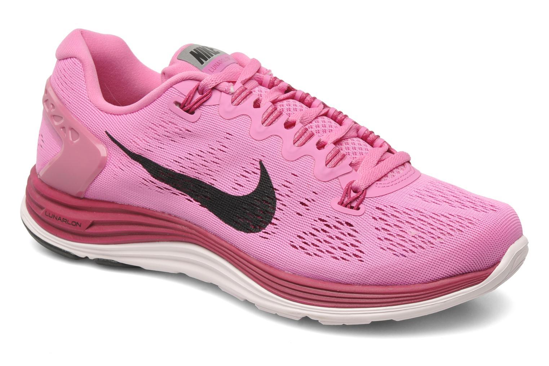 Wmns Nike Lunarglide+ 5 Rd Vlt/Blk Pn-Brght Mgnt-Prl P