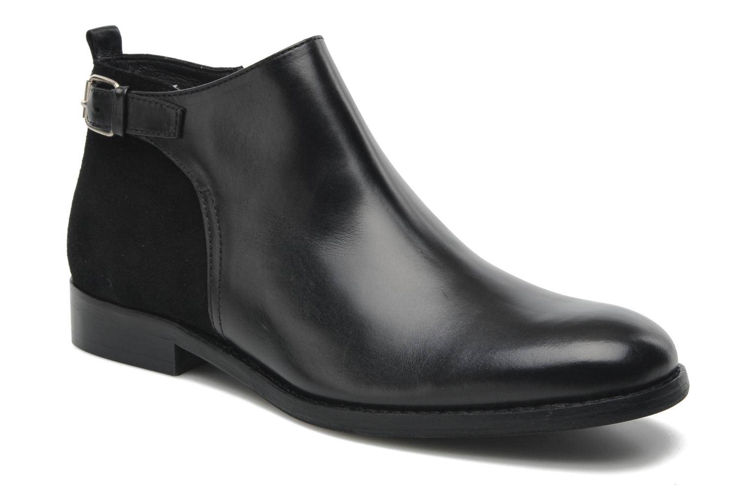 Ankle boots Georgia Rose Tatouille Black detailed view/ Pair view