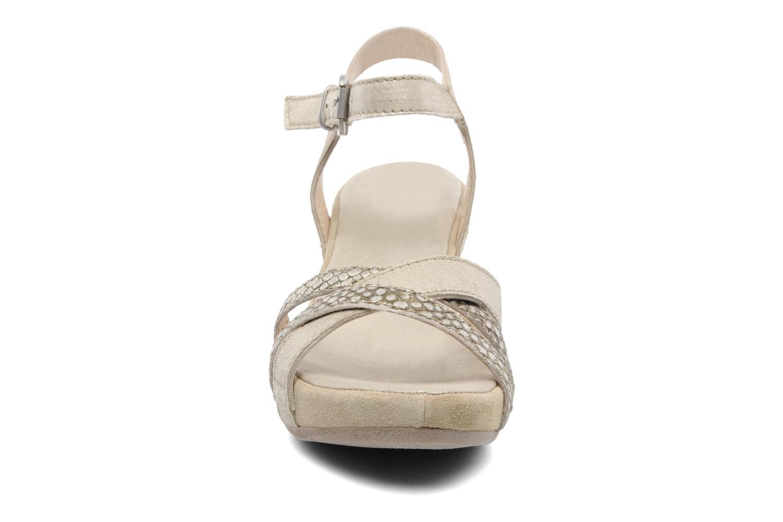 Sandales et nu-pieds Khrio Mirsa Or et bronze vue portées chaussures