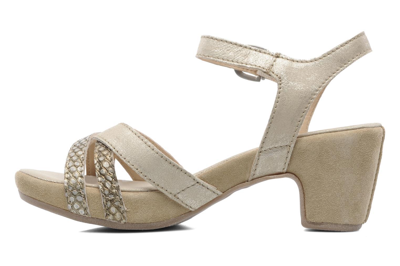 Sandales et nu-pieds Khrio Mirsa Or et bronze vue face