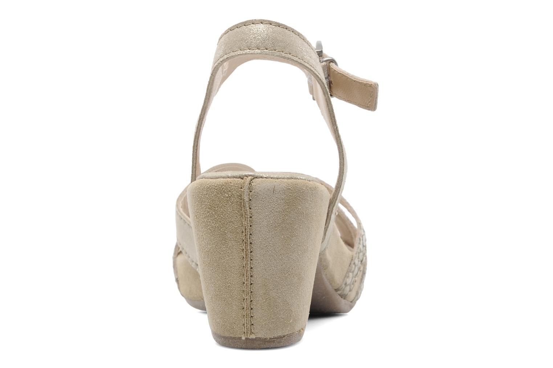 Sandales et nu-pieds Khrio Mirsa Or et bronze vue droite