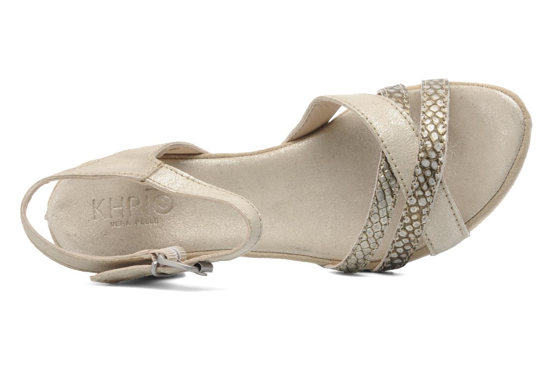 Sandales et nu-pieds Khrio Mirsa Or et bronze vue gauche