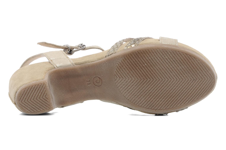 Sandales et nu-pieds Khrio Mirsa Or et bronze vue haut