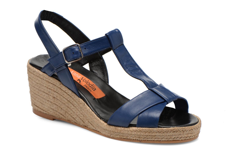 Sandaler Anna Volodia Jemeo Blå detaljeret billede af skoene