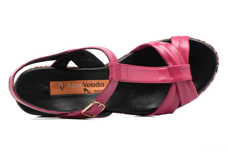 Sandales et nu-pieds Anna Volodia Jemeo Rose vue gauche