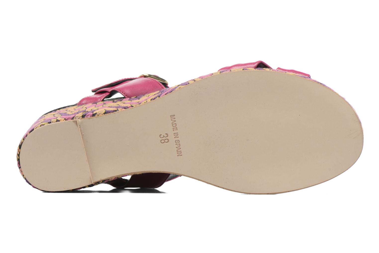 Sandales et nu-pieds Anna Volodia Jemeo Rose vue haut