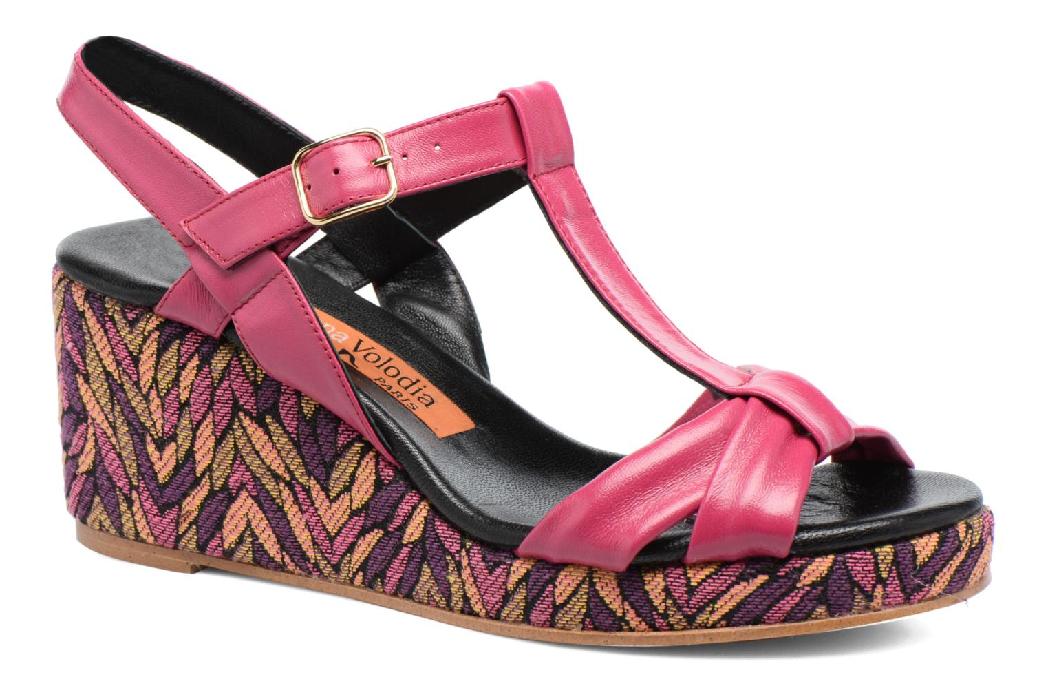 Sandals Anna Volodia Jemeo Pink detailed view/ Pair view