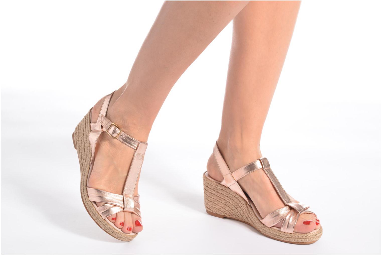 Sandales et nu-pieds Anna Volodia Jemeo Bleu vue bas / vue portée sac