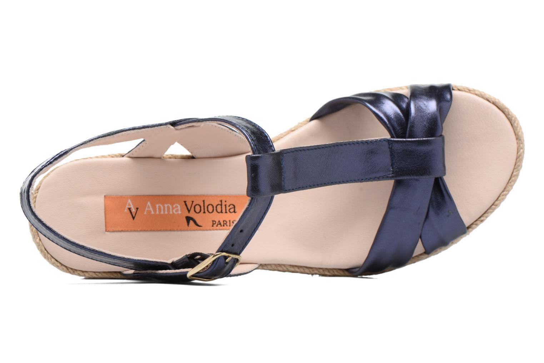 Sandales et nu-pieds Anna Volodia Jemeo Bleu vue gauche