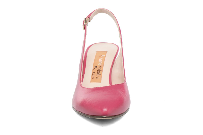 Zapatos de tacón Anna Volodia Mali Rosa vista del modelo