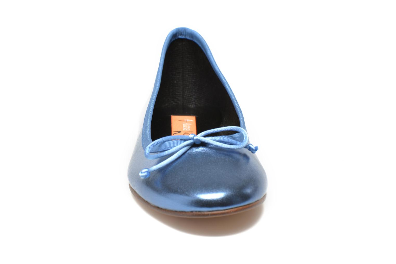 Ballerines Anna Volodia Luna Bleu vue portées chaussures