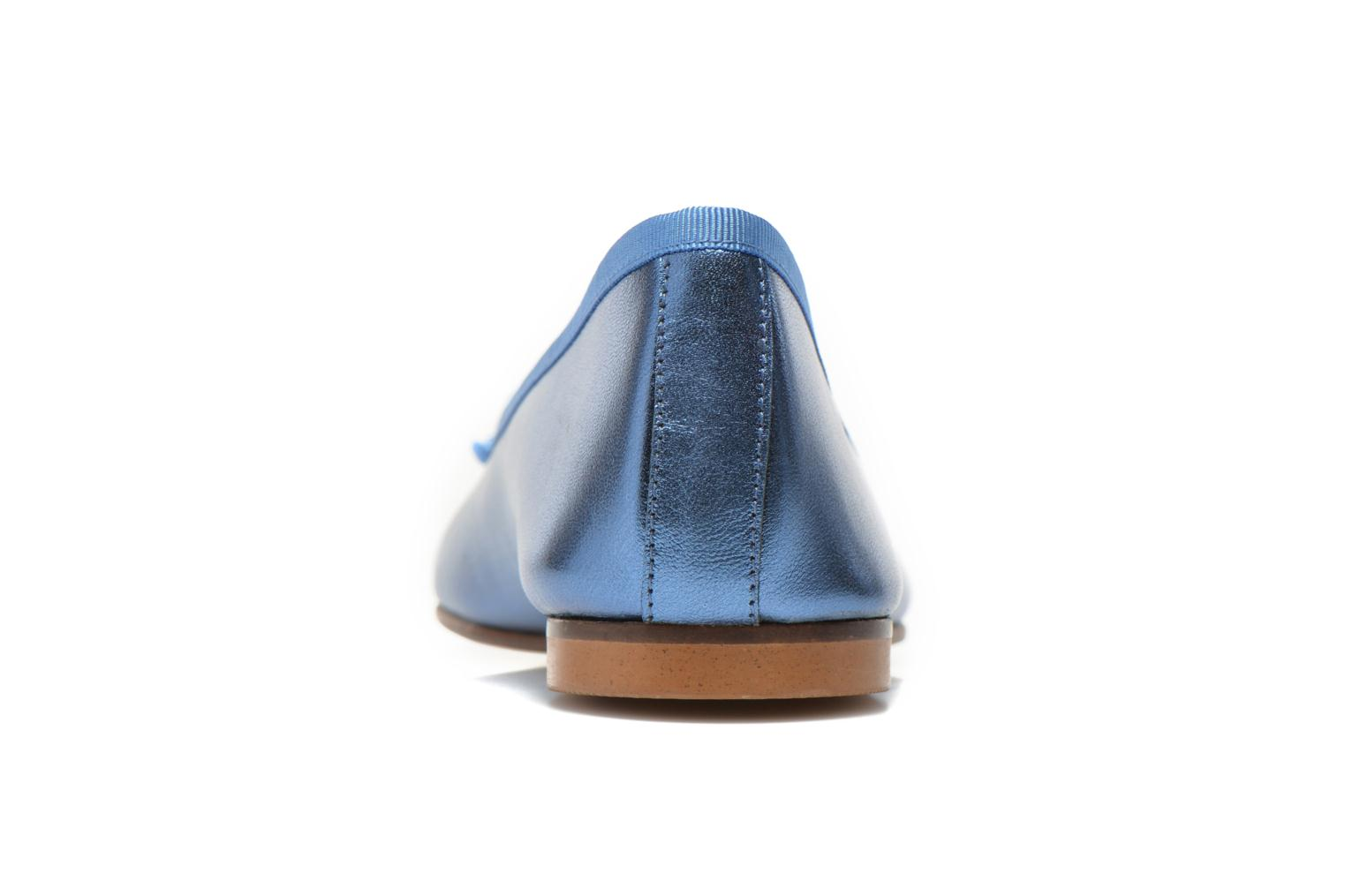 Ballet pumps Anna Volodia Luna Blue view from the right
