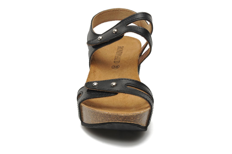Sandales et nu-pieds Rondinaud Falleron Noir vue portées chaussures