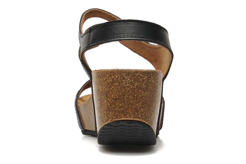 Sandales et nu-pieds Rondinaud Falleron Noir vue droite