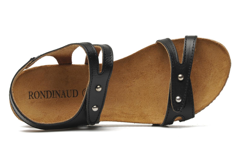 Sandales et nu-pieds Rondinaud Falleron Noir vue gauche