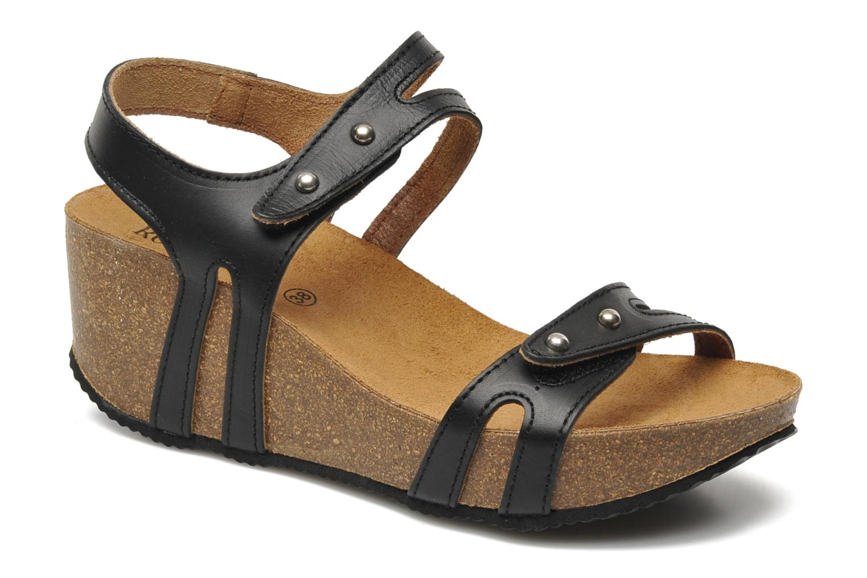 Sandales et nu-pieds Rondinaud Falleron Noir vue détail/paire