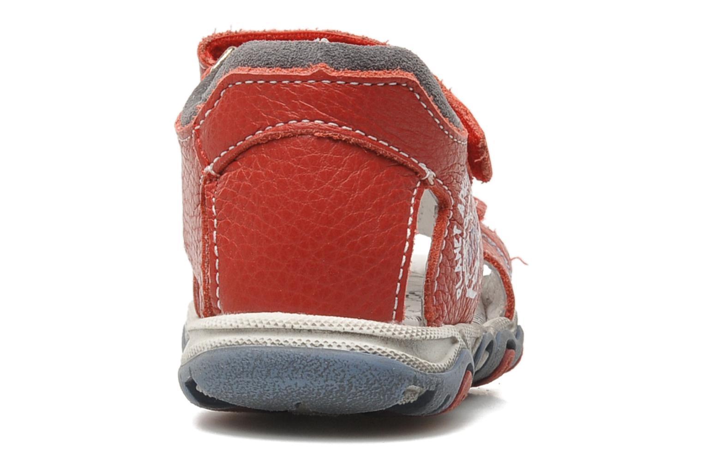 Sandalen Bopy BOMBO rot ansicht von rechts