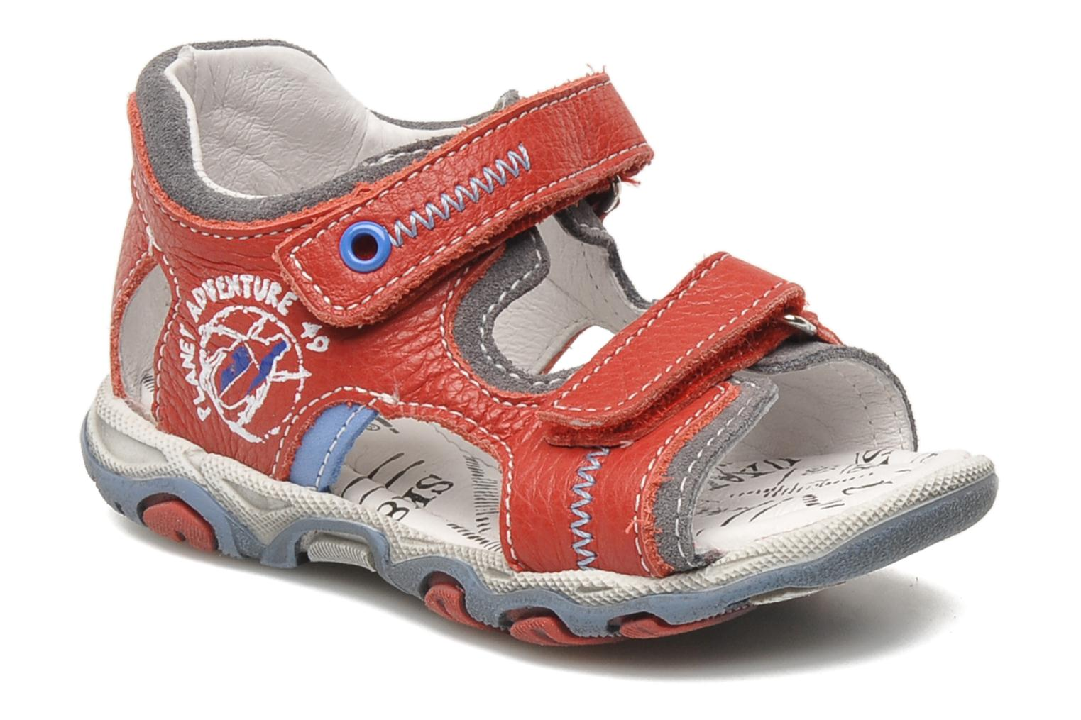 Sandals Bopy BOMBO Red detailed view/ Pair view