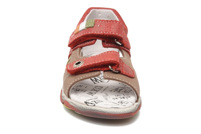 Sandalen Bopy BROC rot schuhe getragen