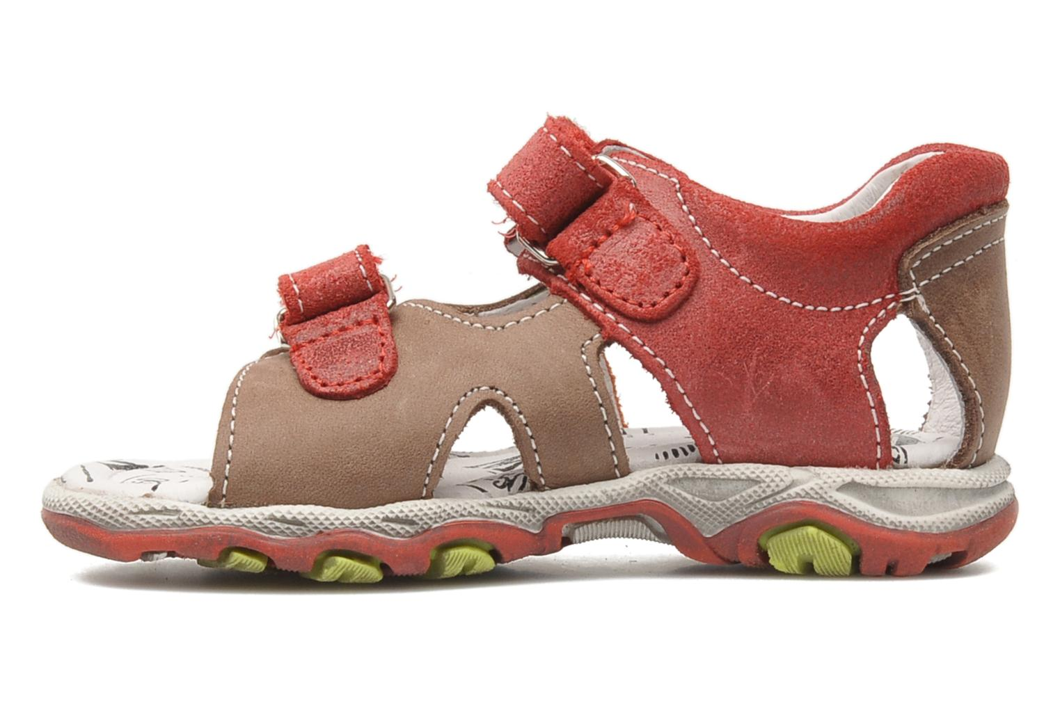 Sandals Bopy BROC Red front view