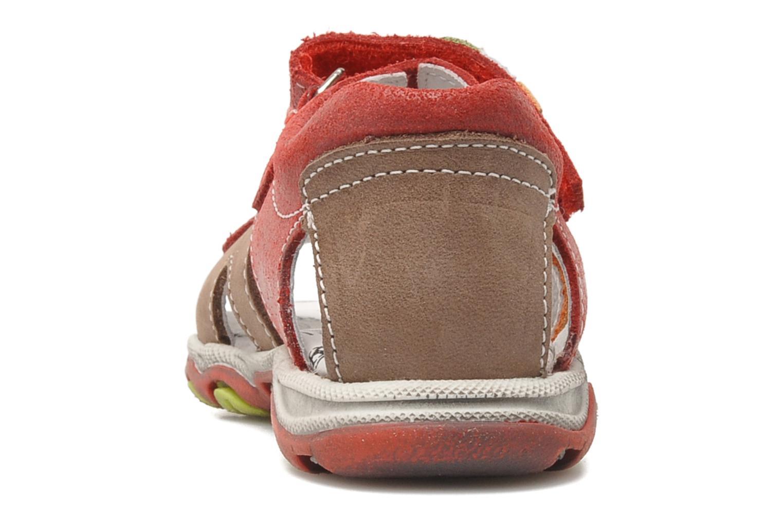 Sandaler Bopy BROC Rød Se fra højre