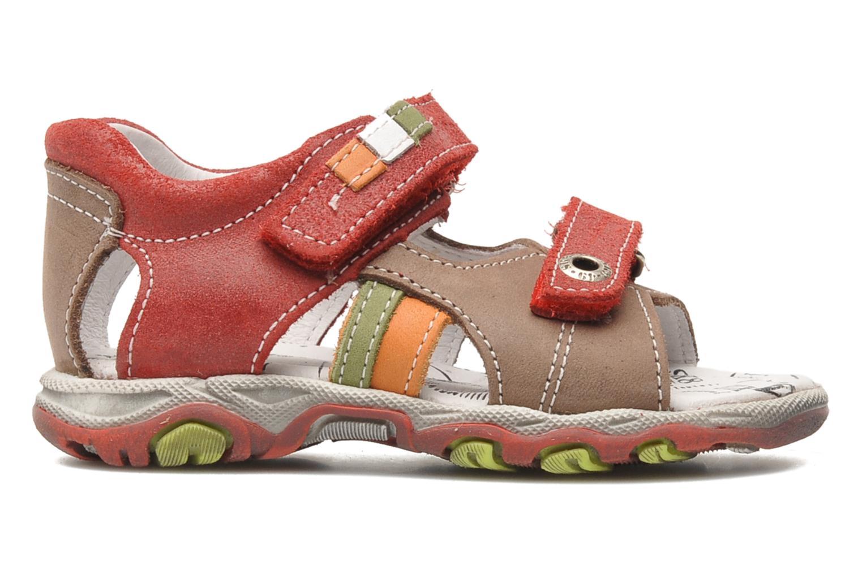 Sandalen Bopy BROC rot ansicht von hinten