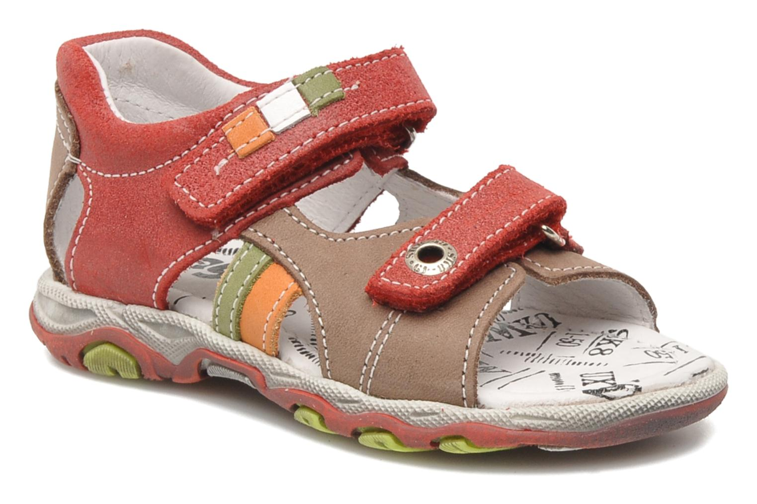 Sandals Bopy BROC Red detailed view/ Pair view